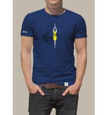 TOUR DE FRANCE T-shirt homme Graphique Velo Bleu 2021