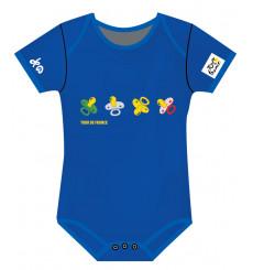 TOUR DE FRANCE official Blue Tétine baby bodysuit 2021