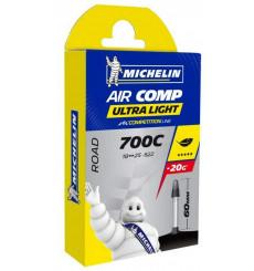 MICHELIN chambre à air route AIRCOMP ULTRA LIGHT 700x18/23c Valve 60 mm