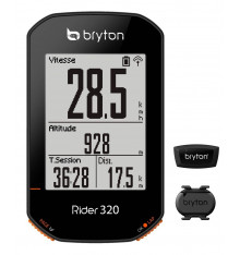 Compteur vélo GPS BRYTON Rider 320 T (avec Cardio + Cadence)