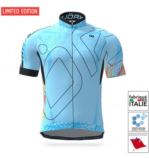 BJORKA maillot vélo manches courtes Snake Édition Spéciale Bleu Turquoise 2021