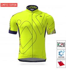 BJORKA maillot vélo manches courtes Snake Édition Spéciale Jaune Fluo Marine 2021