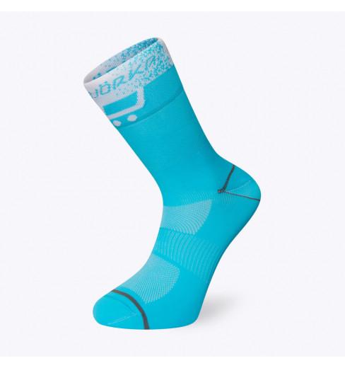 BJORKA chaussettes vélo été TEAM 2021 Bleu Turquoise