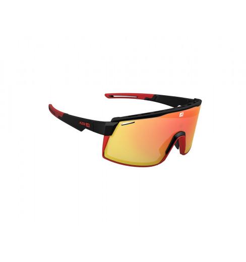 AZR lunettes de vélo SPRINT Noir / Rouge Mat avec écran Rouge multicouche