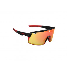 AZR SPRINT Black / Matte Red with red multilayer lens cycling sunglasses