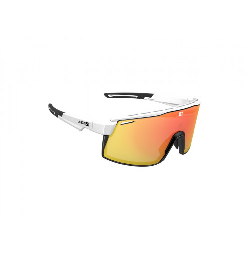 AZR lunettes de vélo SPRINT Blanche / Noir Mat avec écran Rouge multicouche