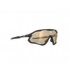 AZR lunettes de vélo ATTACK RX Noire Mat avec écran Multicouche Gold