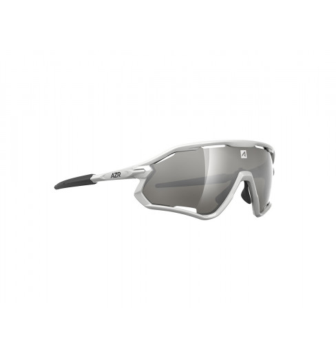 AZR lunettes de vélo ATTACK RX Blanche avec écran gris Miroir