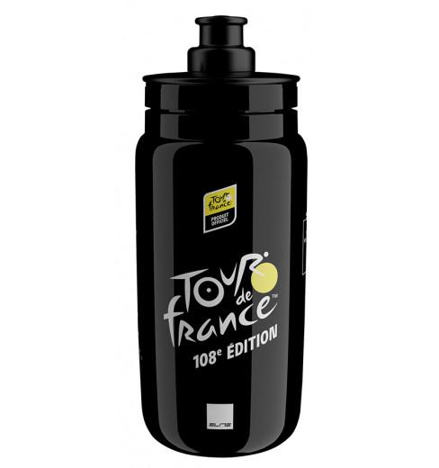 ELITE bidon velo Fly Tour de France noir carte 2021 - 550ml