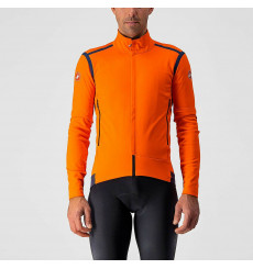 CASTELLI Convertible winter cycling jacket PERFETTO RoS Orange 2022