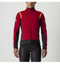 CASTELLI Alpha Ros 2 dark red winter cycling jacket 2022