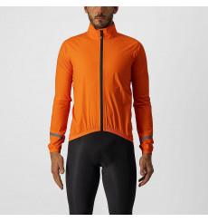 CASTELLI Emergency 2 orange cycling jacket 2022