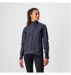 CASTELLI Commuter Reflex  women's blue cycling jacket 2022
