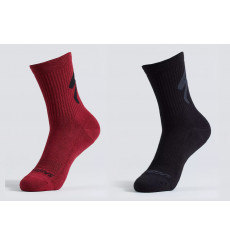 SPECIALIZED Cotton Tall Logo cycling socks 2022