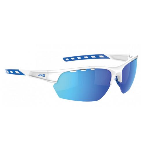 AZR lunettes de vélo IZOARD Blanc / Bleu avec écran bleu multicouche