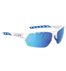 AZR IZOARD White / Blue with blue multilayer lens cycling sunglasses