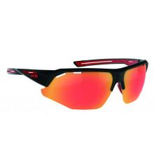 AZR lunettes de vélo KROMIC GALIBIER Noir Mat / rouge avec écran irisé photochromique