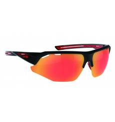 AZR KROMIC GALIBIER Black Matte red with iridescent photochromic lens cycling sunglasses