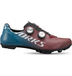 SPECIALIZED S-Works Recon men's Mountain Bike Shoes - Tropical Teal / Maroon / Silver