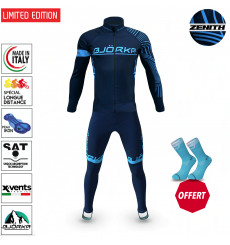 BJORKA WINTER CYCLING SET ZENITH BLUE TURQUOISE THERMAL JACKET + TIGHTS 2022