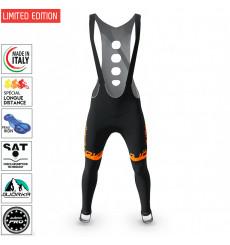 BJORKA Team Winter Black Orange cycling tights 2022