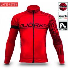 BJORKA veste thermique vélo hiver Zenith Rouge Noir 2022