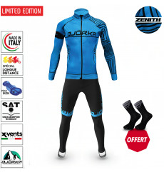 BJORKA WINTER CYCLING SET ZENITH TURQUOISE THERMAL JACKET + TIGHTS 2022