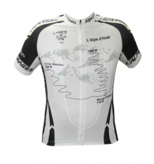 ALPE D'HUEZ black white short sleeves jersey