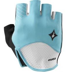 SPECIALIZED gants femme SL Comp blanc bleu 2015