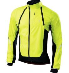 SPECIALIZED Deflect Hybrid neon yellow / black windproof jacket