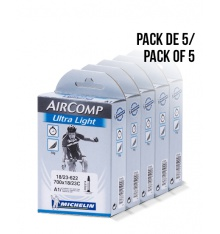 MICHELIN  Pack de 5 chambres à air Ultra-Light 700x18/23 val. 40 mm