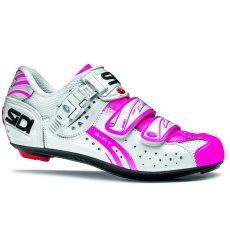 SIDI Genius 5 Fit Carbon white pink fluo road shoes 2015